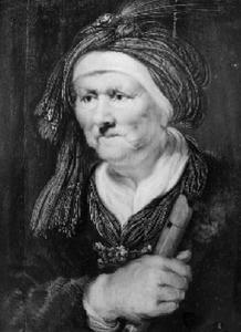 Allegorie van het gehoor / Een oude vrouw met een fluit