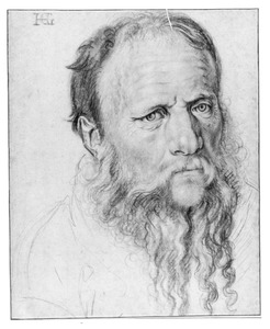 Portret van een oudere man met baard