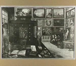 Interieur van een kunstverzameling