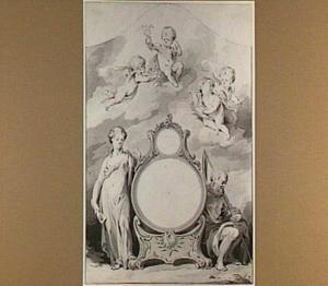 Ontwerp voor de decoratie rond de wijzerplaat van een Nederlandse klok