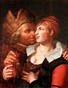 Ongelijke paar: een jonge vrouw met een oude man