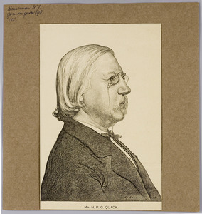 Portret van mr. H.P.G. Quack