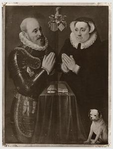 Dubbelportret van Jaques de Berchem (....-1600) en Anne van Ruynen (....-1599)