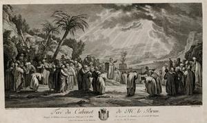 Mozes verkiest de zeventig Oudsten (Numeri 11:16-17 en 24-25)