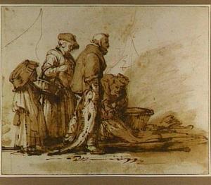 Groep visserss