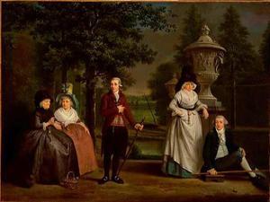 Portret van de familie van Geertje Hagen (1714-1798)