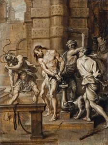 De geseling van Christus (Mattëus 27:26; Marcus 15:15; Johannes 19:1)