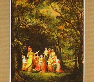Boslandschap met Minerva bij de Muzen