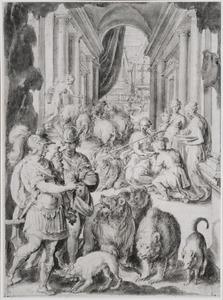 Mercurius geeft Odysseus het magische kruid; Circe verandert de metgezellen van Odysseus in dieren