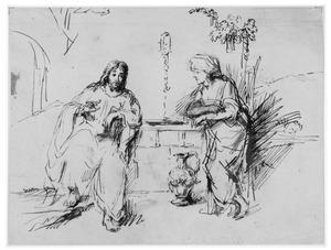 Christus en de Samaritaanse vrouw bij de waterput (Johannes 4)