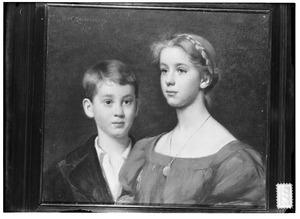 Dubbelportret van Henriette Maximiliane Schimmelpenninck (1889-1966) en Rutger Jan Eugen Schimmelpenninck (1892-1945)