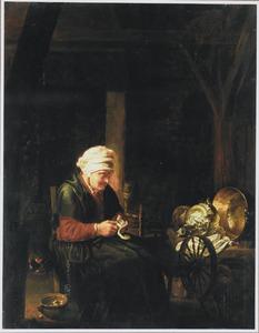 Schillende oude vrouw