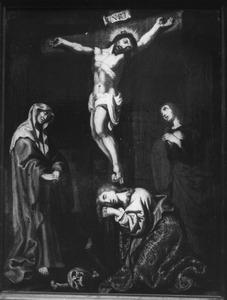Gekruisigde Christus met Maria, Johannes en Maria Magdalena