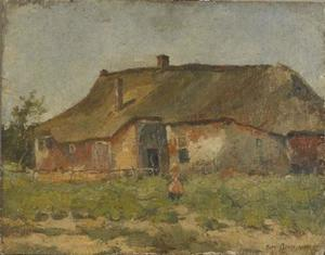 Farm building in Het Gooi with child