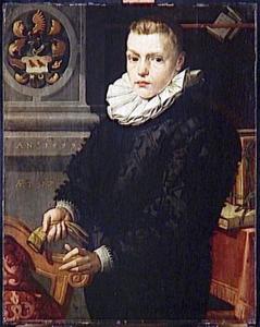 Portret van Claes Chijs (1581-1605), zoon van Job Cornelisz. Coster en Maria Claesdr. Chijs