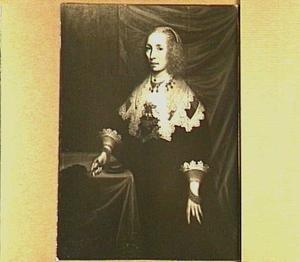 Portret van Anna van Wijtsma (1613-1652), tweede echtgenote van Watze van Cammingha