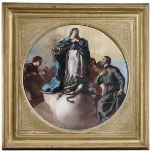 Maria Immaculata en de heiligen Antonius van Padua en Camillus van Lellis