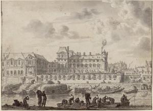 Gezicht op het Louvre