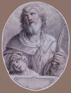 Abraham neemt het mes op om Isaak te slachten (Genesis 22:10-12)