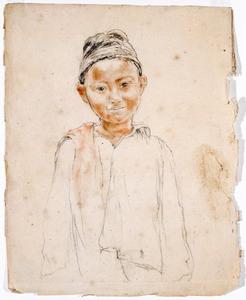 Portretstudie van een jongen
