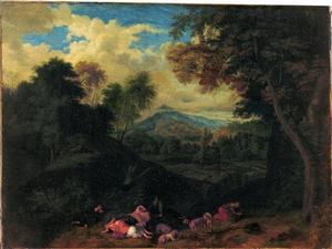 Landschap met Diana en slapende nimfen