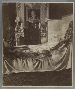 Doodsbedportret van Sophie van Wurtemberg (1818-1877)