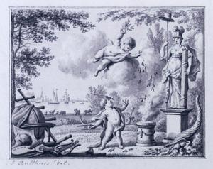 Allegorie op de welvaart tijdens vrede