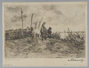Schuitenjager met paarden