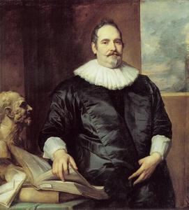Portret van Justus van Meerstraeten (?-?), echtgenoot van Elisabeth van Assche, raadpensionaris van Brussel