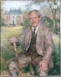 Portret van Allard Philip Reinier Carel baron van der Borch van Verwolde (1926-2008 )