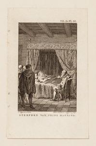 Het sterfbed van prins Maurits