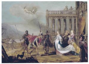 De ontmoeting van Dido en Aeneas