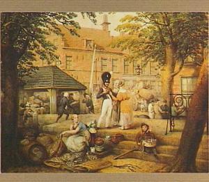 Gezicht op de Wortelhaven te Leeuwarden in 1838
