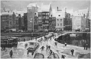 Het Rokin te Amsterdam, gezien vanuit Arti