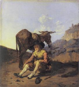 Herder met een ezel