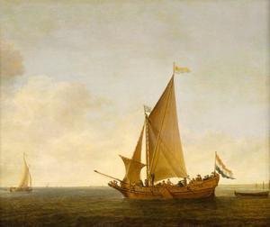 Statenjacht van de Admiraliteit van Zeeland in kalm water