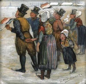 Skating scene: Marken