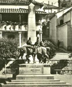 Garibaldi en Victor Emmanuel op de brug in Teano