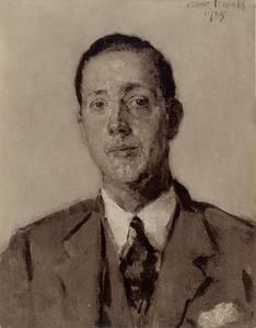 Portret van J.P. Glerum op 29-jarige leeftijd
