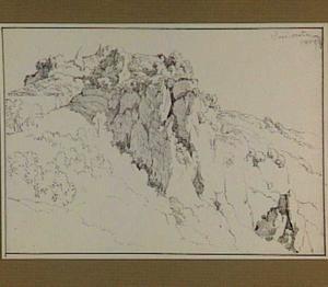 Rotsachtig heuvellandschap in de omgeving van Roccantica