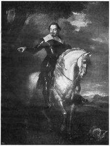 Ruiterportret van Francisco de Moncada Y Moncada, Marqués de Aytona (1586-1635)