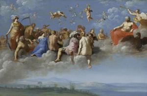 Godenmaaltijd op de wolken