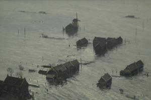 Watersnoodramp, Watermolen Zuid-Holland 1 februari 1953