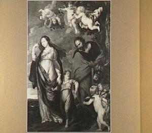De H. Familie tijdens de terugkeer uit Egypte (Matteüs 2:19-21)