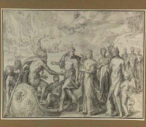 Allegorie op de inscheping van Anna van Oostenrijk naar Spanje