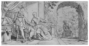 Dubbelportret van Abraham Casteleyn (1628-1681) en Margaretha van Bancken (....-1693)