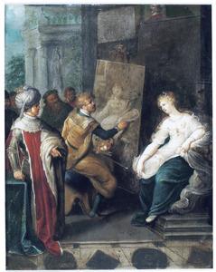 Apelles schildert Campaspe, de geliefde van Alexander de Grote