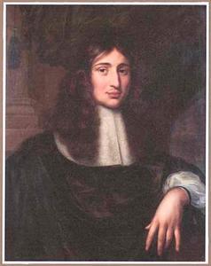 Portret van een jonge man met lang haar