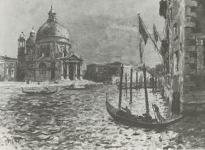 Canal Grande te Venetië met links de Santa Maria della Salute