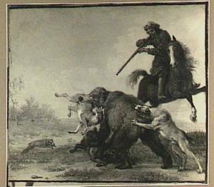 Taferelen uit het leven van de jager: berenjacht